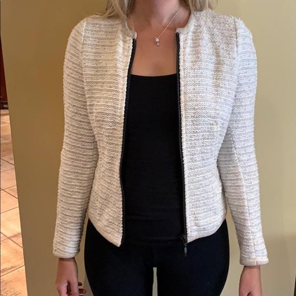 Sweater blazer with zipper excellent condition